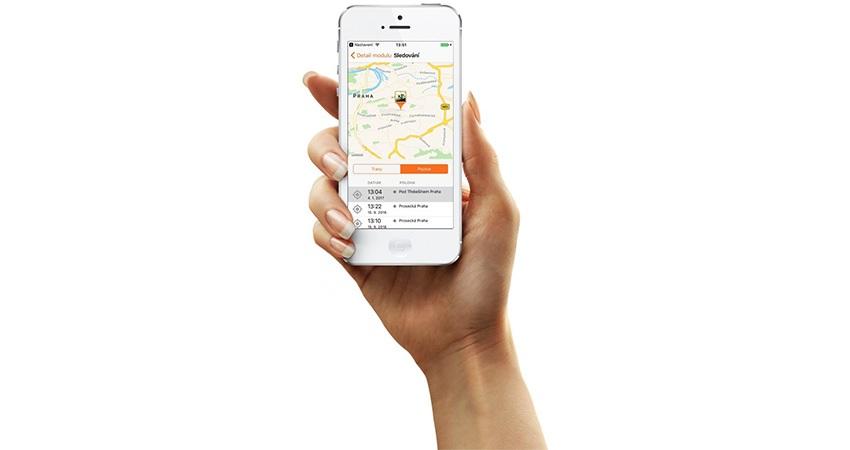 GPS lokátor; inteligentný telefón; aplikácia