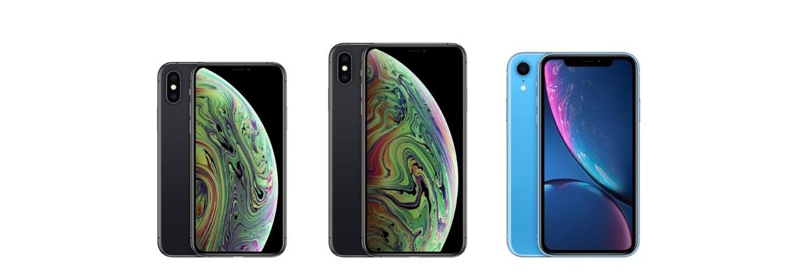 iPhone Xs; iPhone Xs Max; iPhone Xr