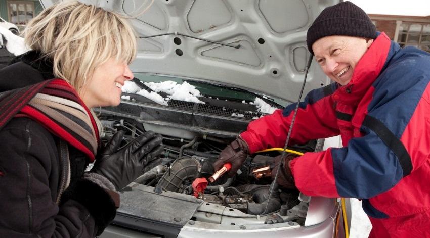 Autobatéria v zime