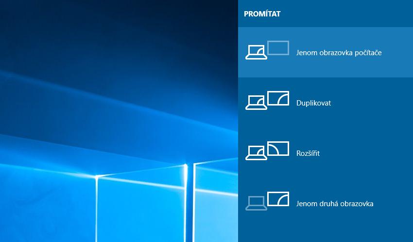Pripojenie notebooku k TV vo Windows