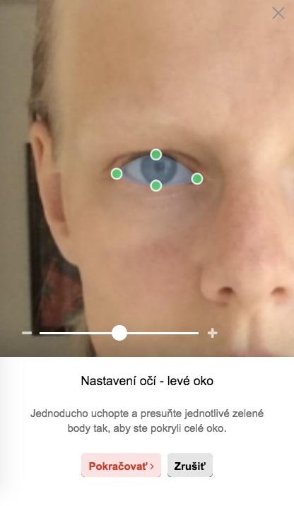 Úprava okrajov očí