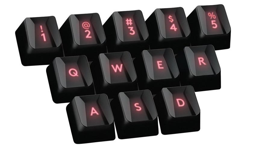 Logitech G413 má vymeniteľné klávesy