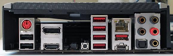 Zadný panel, MSI X470 Gaming Pro Carbon