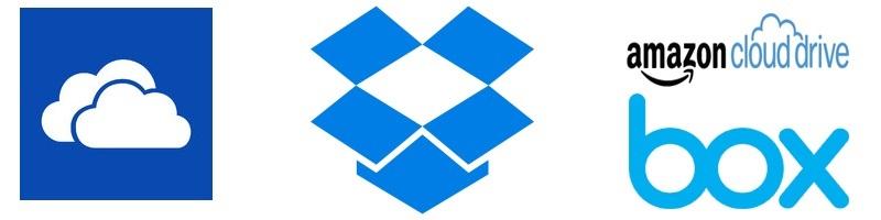 Dropbox; OneDrive; Box; cloudové úložiská
