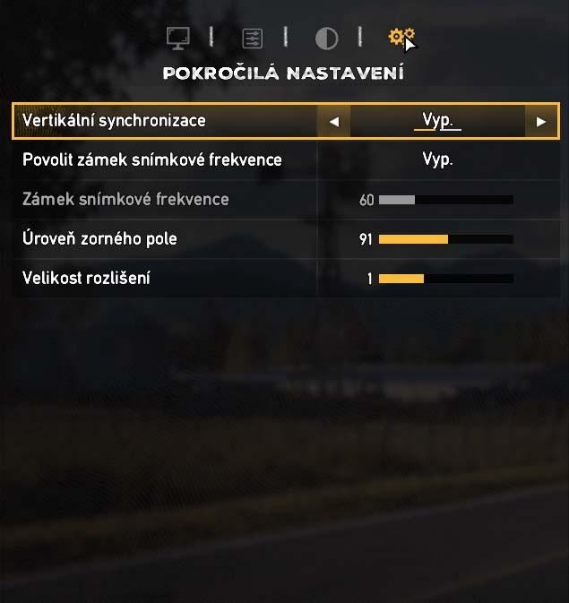 Far Cry 5 pokročilé nastavenie