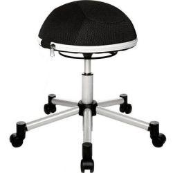 Kancelárska stolička v tvare pol-lopty