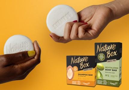 Tuhé mydlá, tuhé šampóny Nature Box