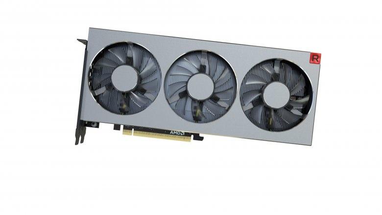 AMD Radeon VII, bočný pohľad