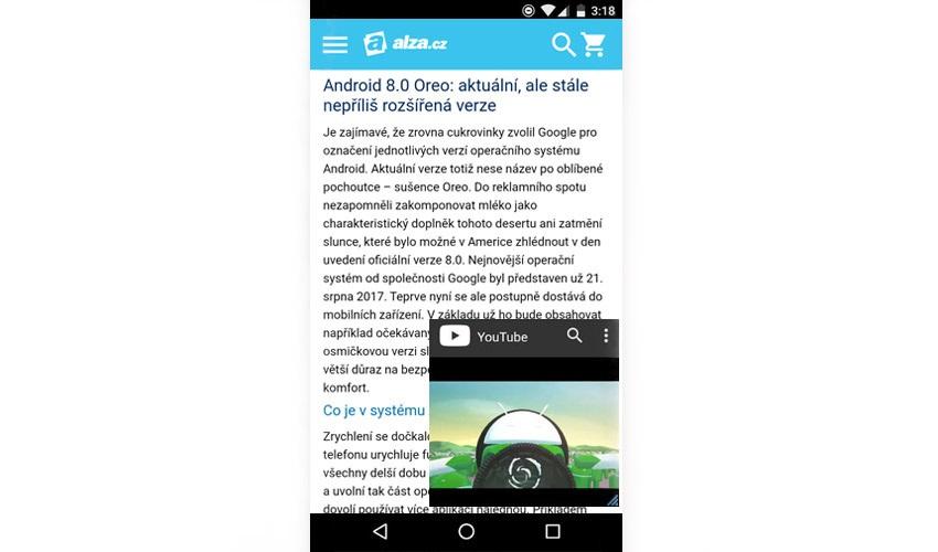 Android 8.0 Oreo; PiP režim