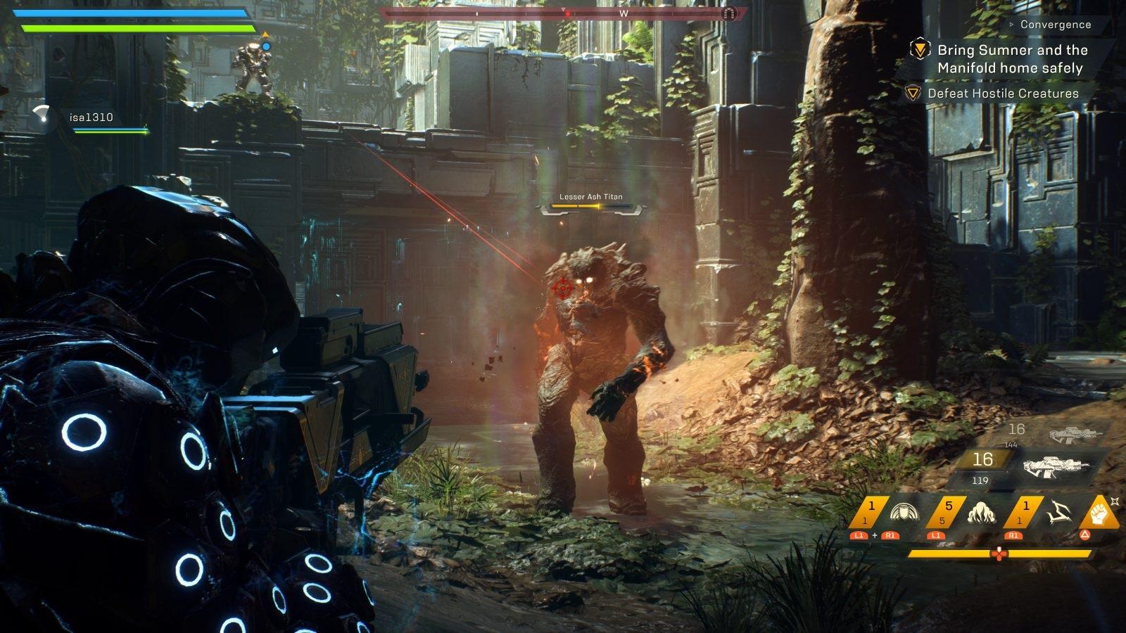 132404f40ed4 Anthem  gameplay  dungeon Anthem  gameplay  titán ...
