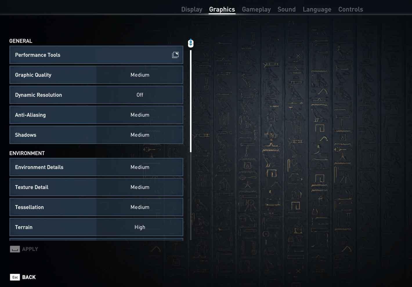 Assassin's Creed: Origins nastavenie pokročilé 1