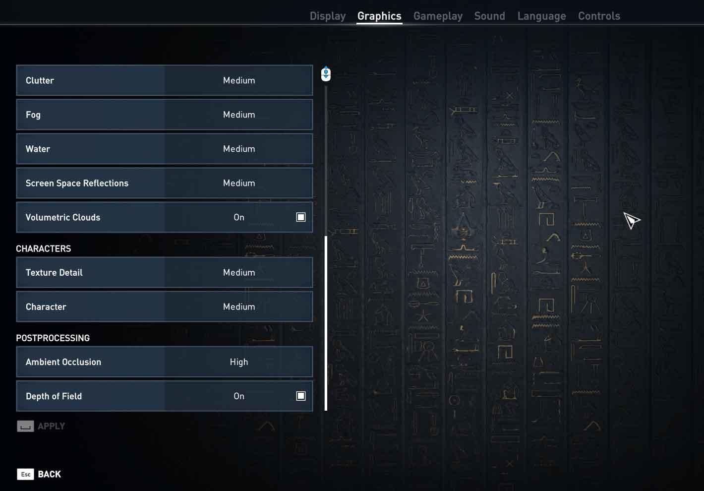 Assassin's Creed: Origins nastavenie pokročilé 2