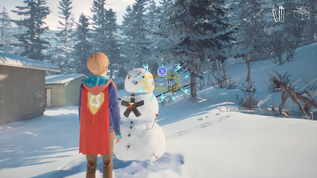 The Awesome Adventures of Captain Spirit; screenshot: interakcia