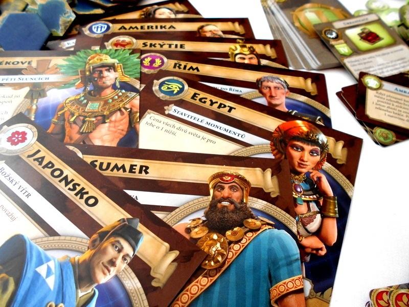 Doskové hry podľa počítačových predlôh; screenshot: Civilization, národy