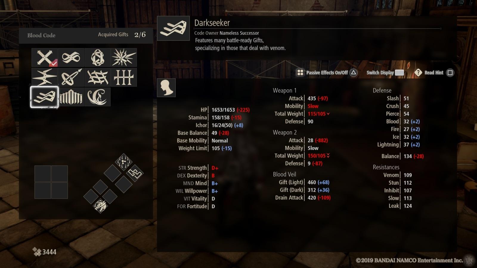 Code Vein; gameplay: blood codes