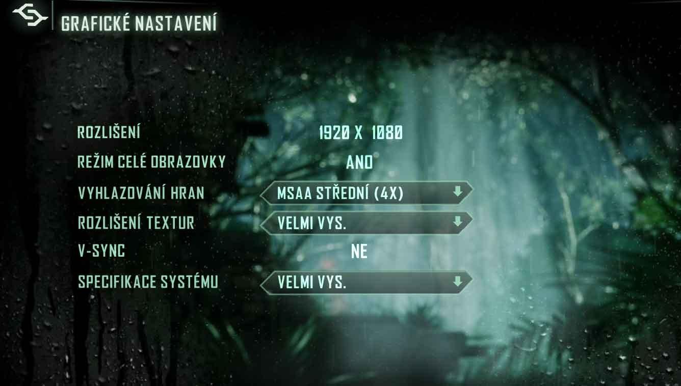 Crysis 3 nastavenie grafiky