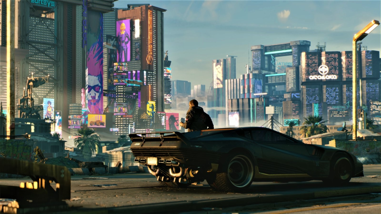 Cyberpunk 2077; wallpaper: mesto