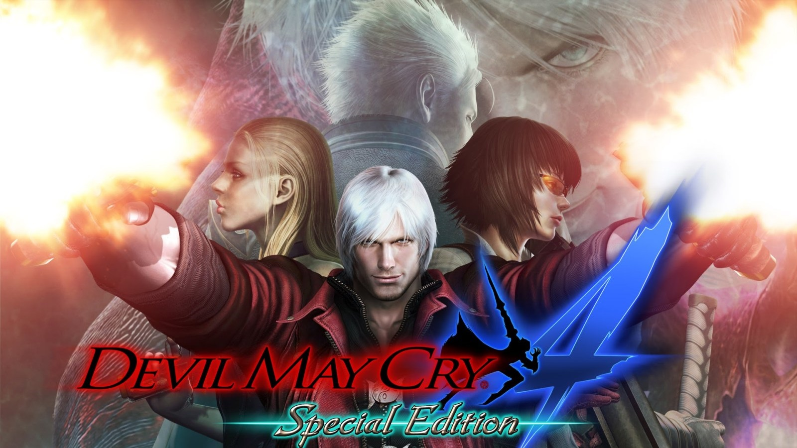 Devil May Cry serie; Devil May Cry 4 (2008): logo, cover
