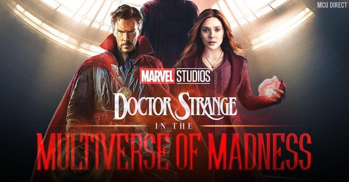 Doctor Strange in the Multiverse of Madness; screenshot: logo, postavy