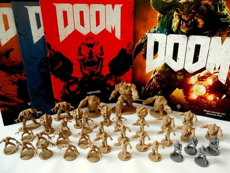 Doskové hry podľa počítačových predlôh; screenshot: Doom figúrky
