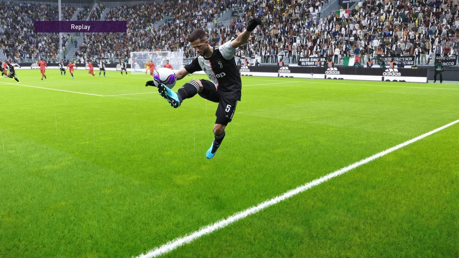 eFootball PES 2020; gameplay: akrobacia