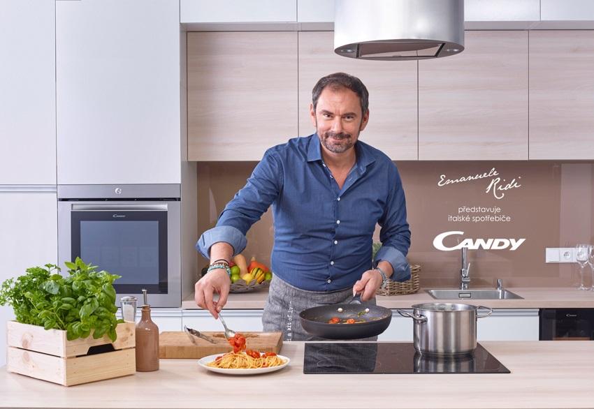 Emanuele Ridi odporúča spotřebiče Candy