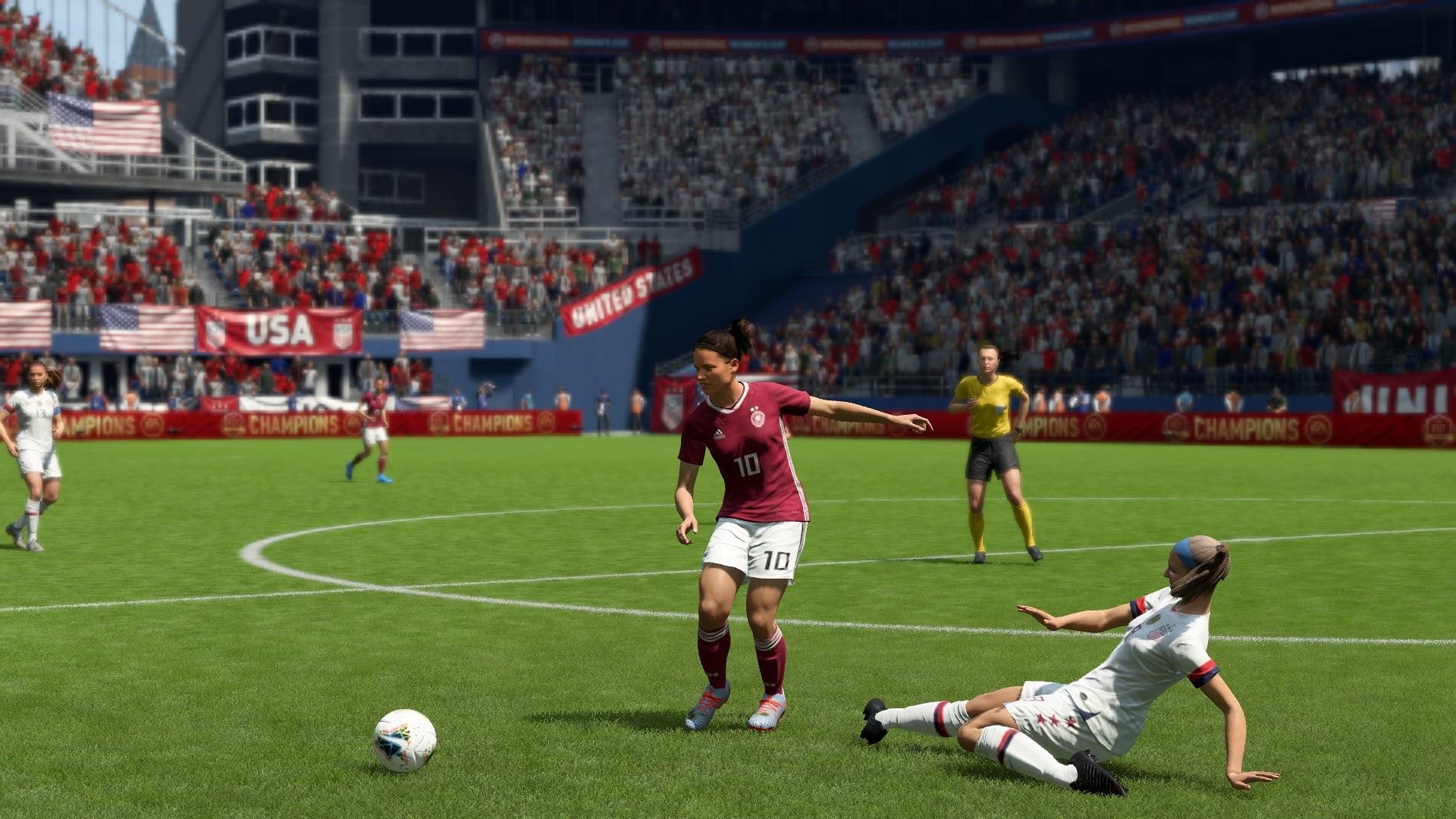 FIFA 20; gameplay: dievčatá