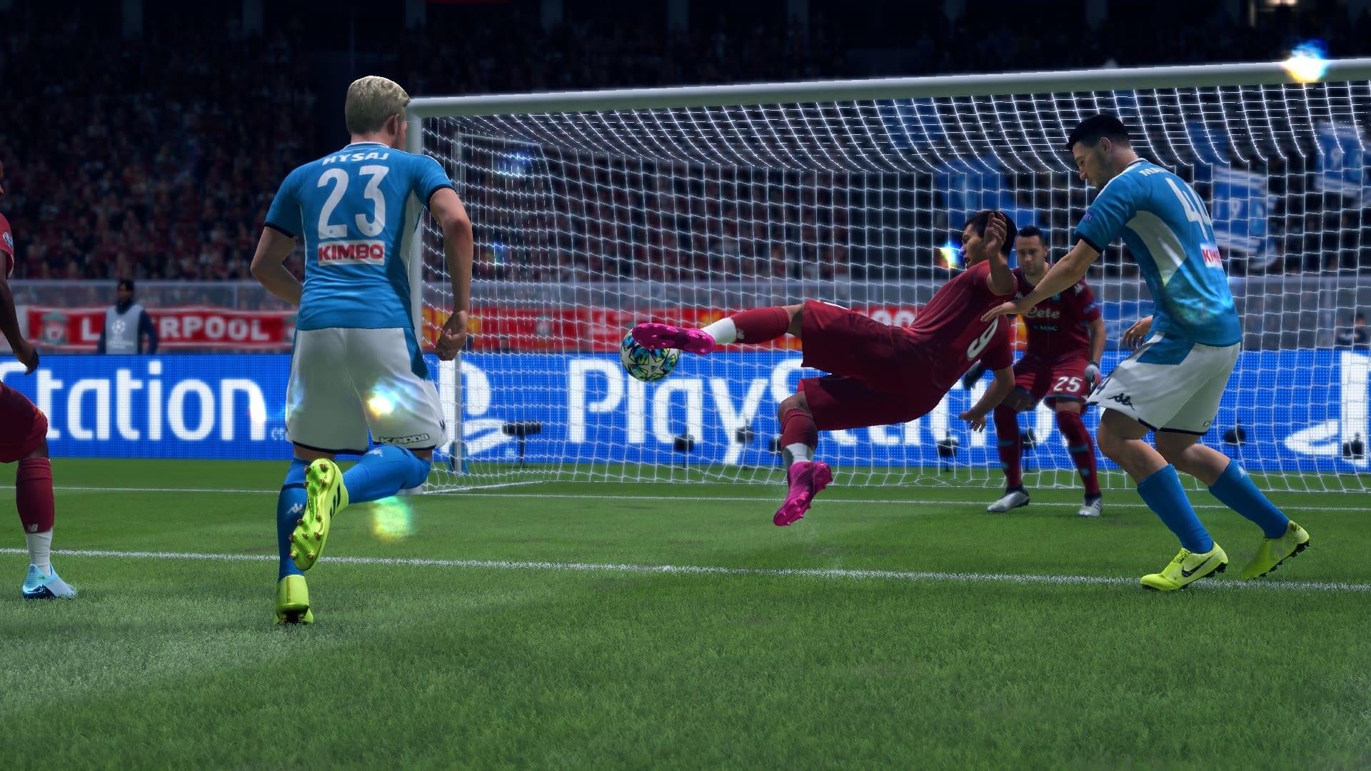 FIFA 20; screenshot: nožničky