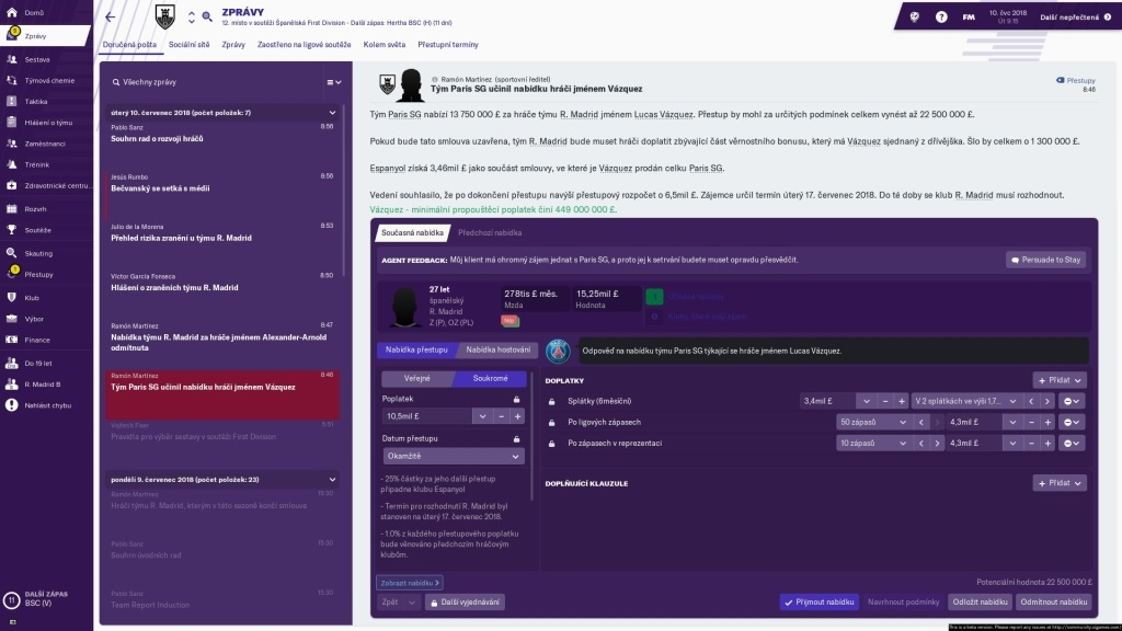 Football Manager 2019; gameplay: obchod