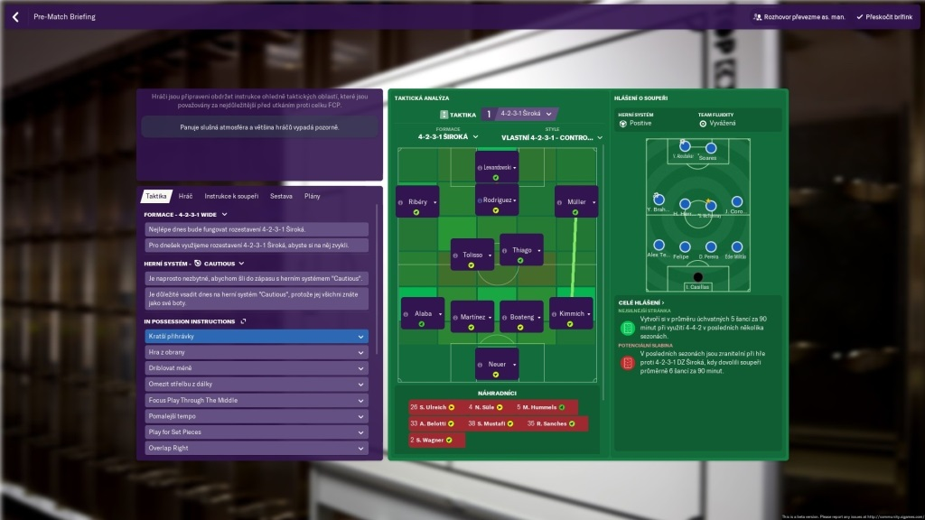 Football Manager 2019; gameplay: taktika