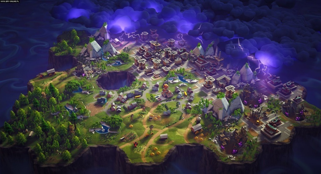 Fortnite; Wallpaper: mapa, búrka, město
