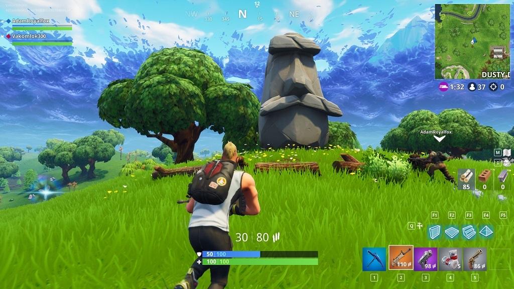 Fortnite, gameplay, season 5 – Socha