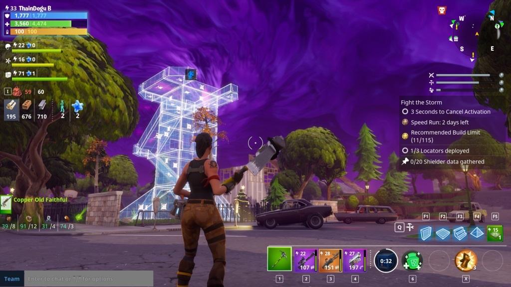 Fortnite; Gameplay: veža