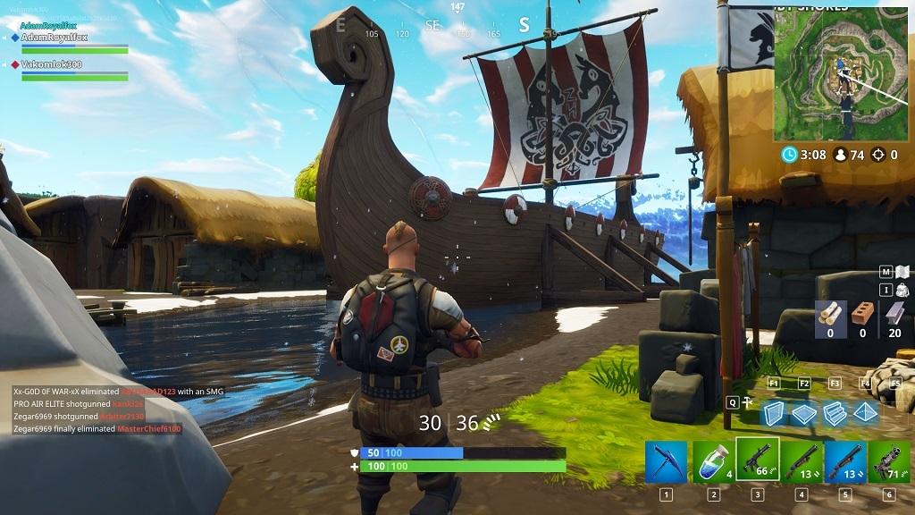 Fortnite, gameplay, season 5 – vikingská loď