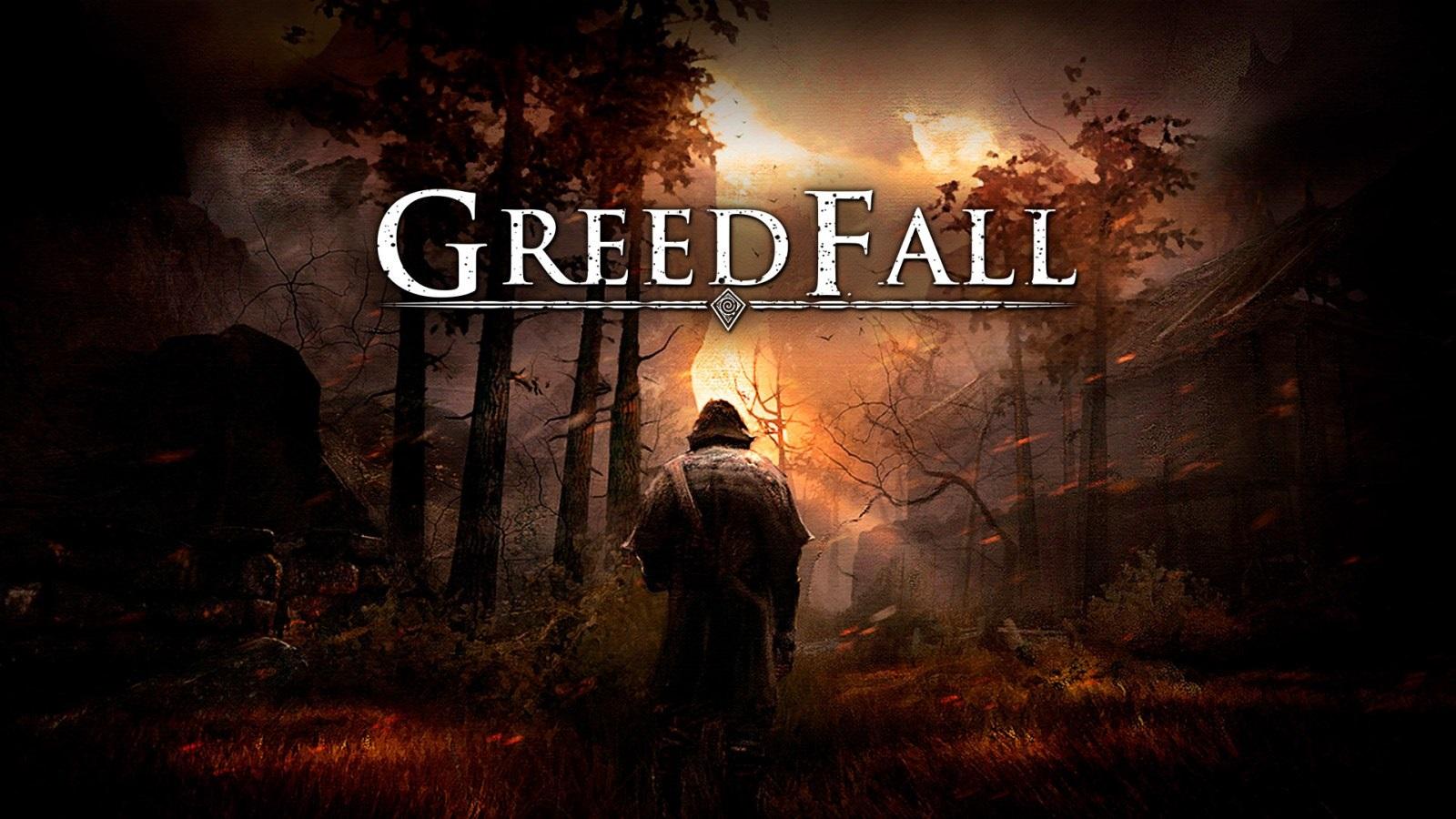 GreedFall; wallpaper: cover, logo