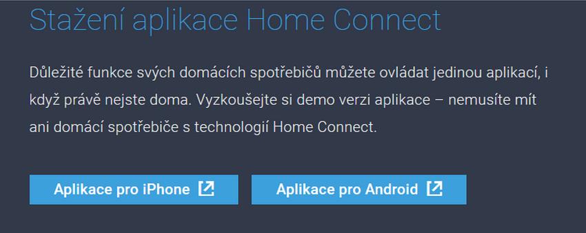 Stiahnite si demoverziu aplikácie Home Connect
