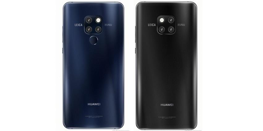 Huawei Mate 20 a Mate 20 Pro, modrá, čierna