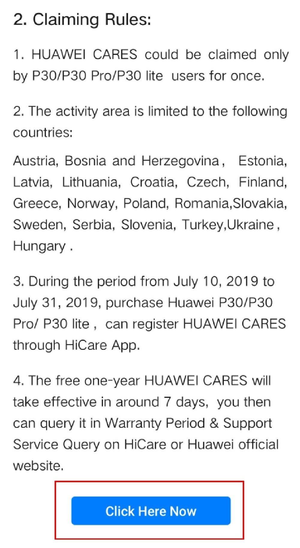 Huawei - registrácia