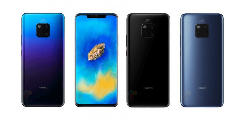 Huawei Mate 20 Pro render farby