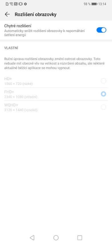 Huawei Mate 20 Pro, recenzia, displej