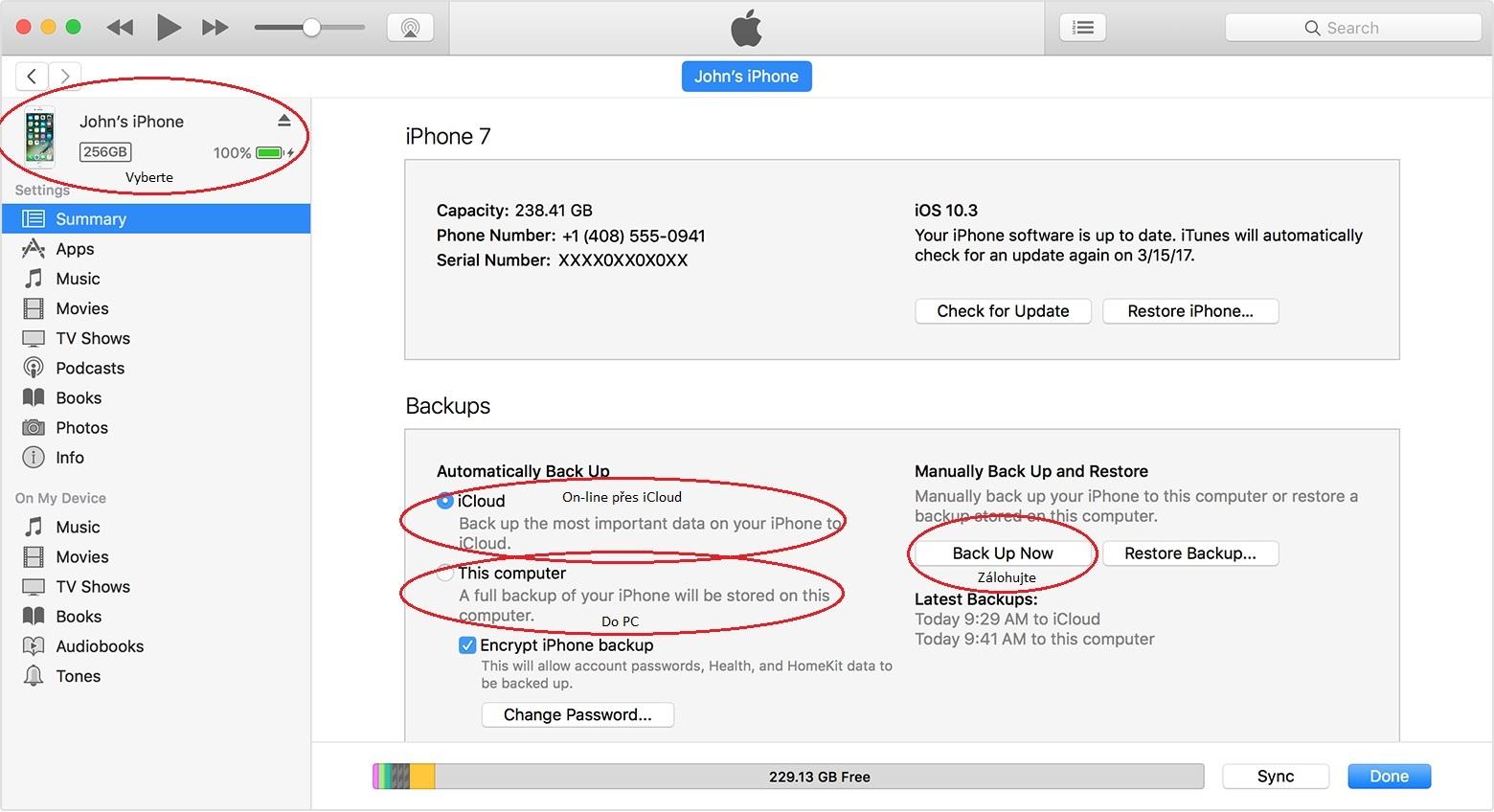 iPhone – iTunes postup