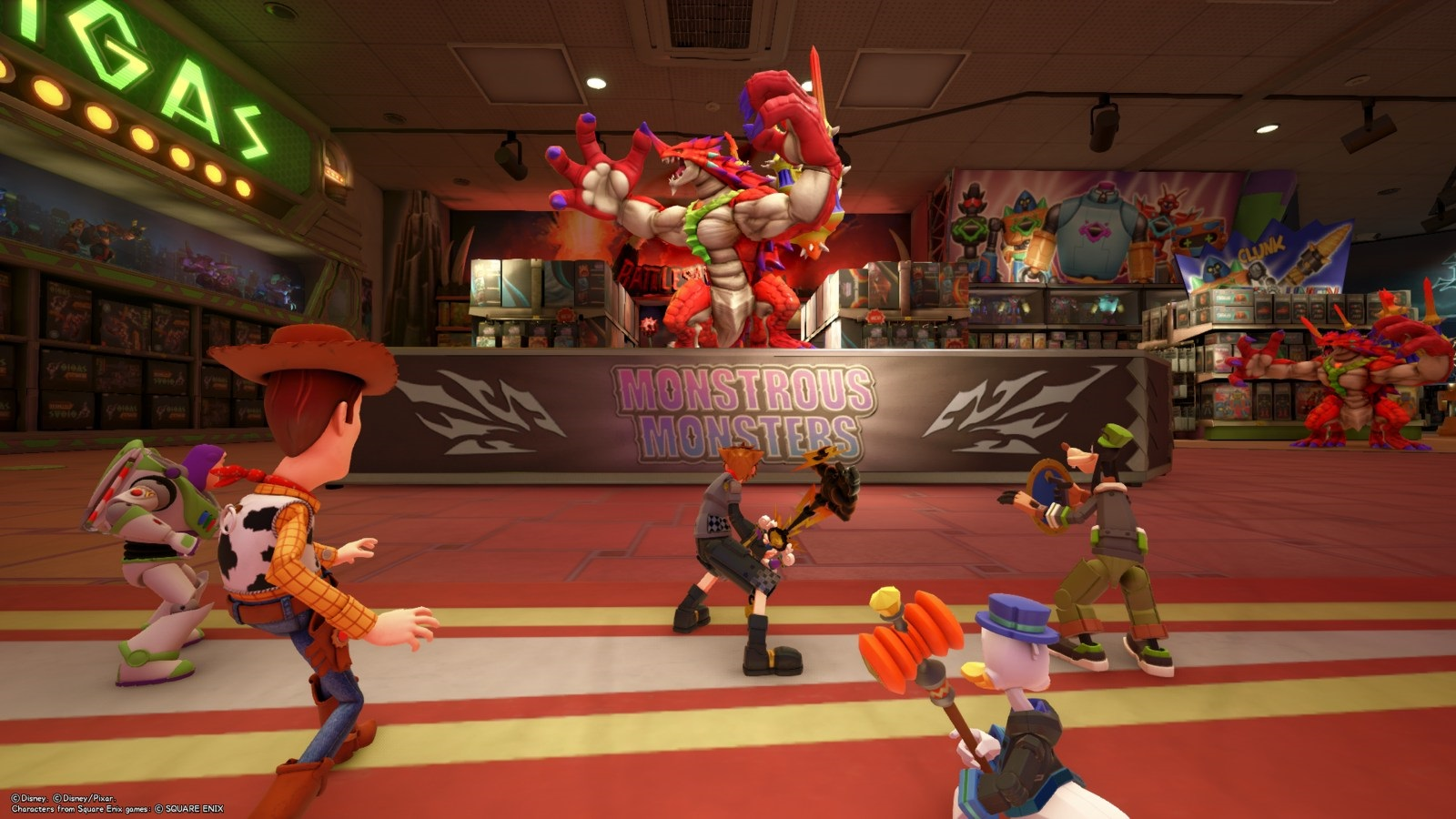 Kingdom Hearts 3; gameplay: jašterka