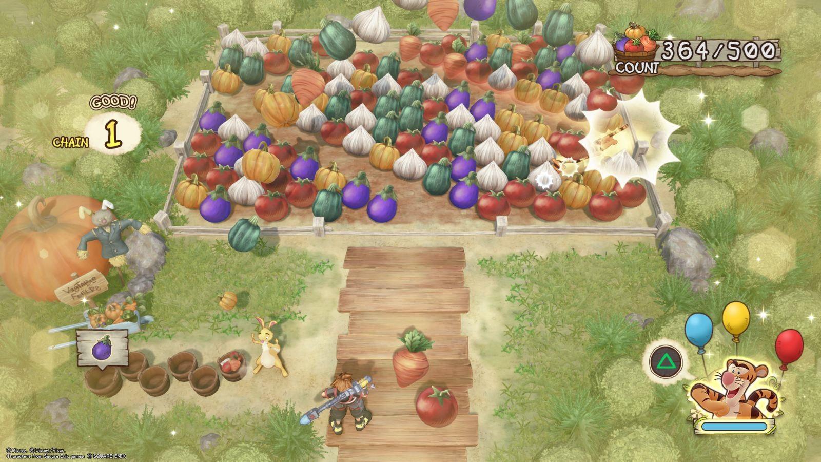 Kingdom Hearts 3; gameplay: spoj tri