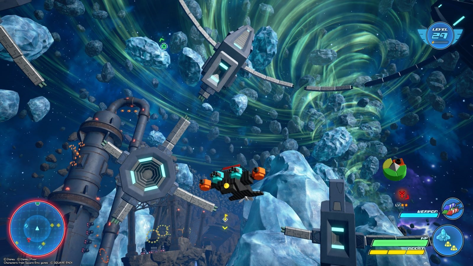 Kingdom Hearts 3; gameplay: vesmír