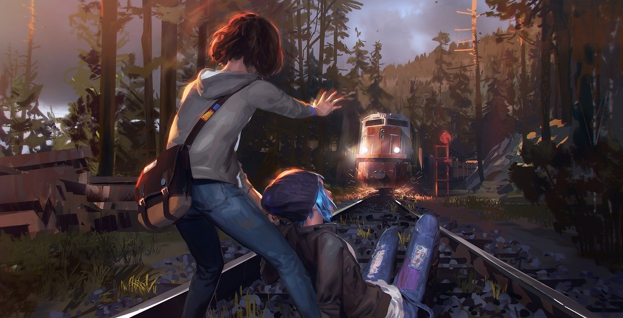 Life is strange; Max in front of train