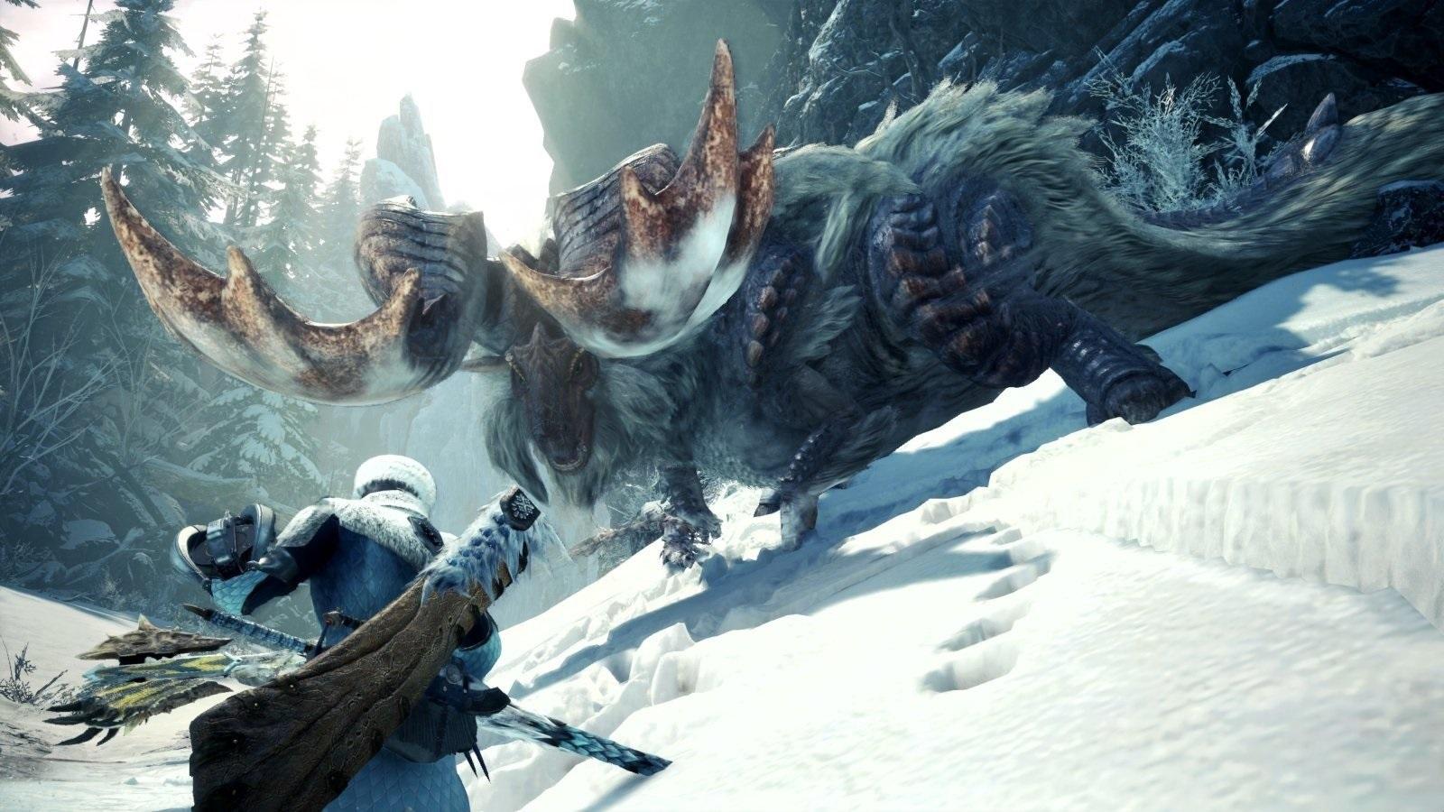 Monster Hunter World: Iceborne; screenshot: súboj