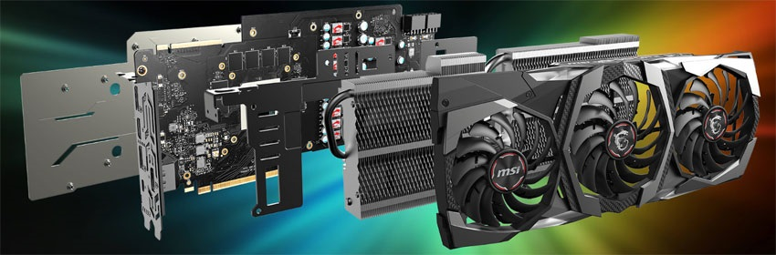 MSI RTX 2080 Ti Gaming X TRIO; systém chladenia