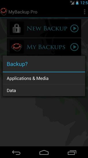MaBackup – aplikácie alebo dáta