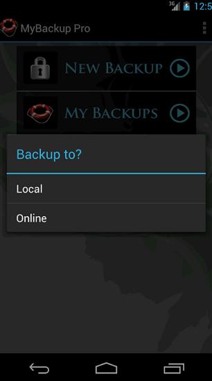 MyBackup – SD karta nebo on-line