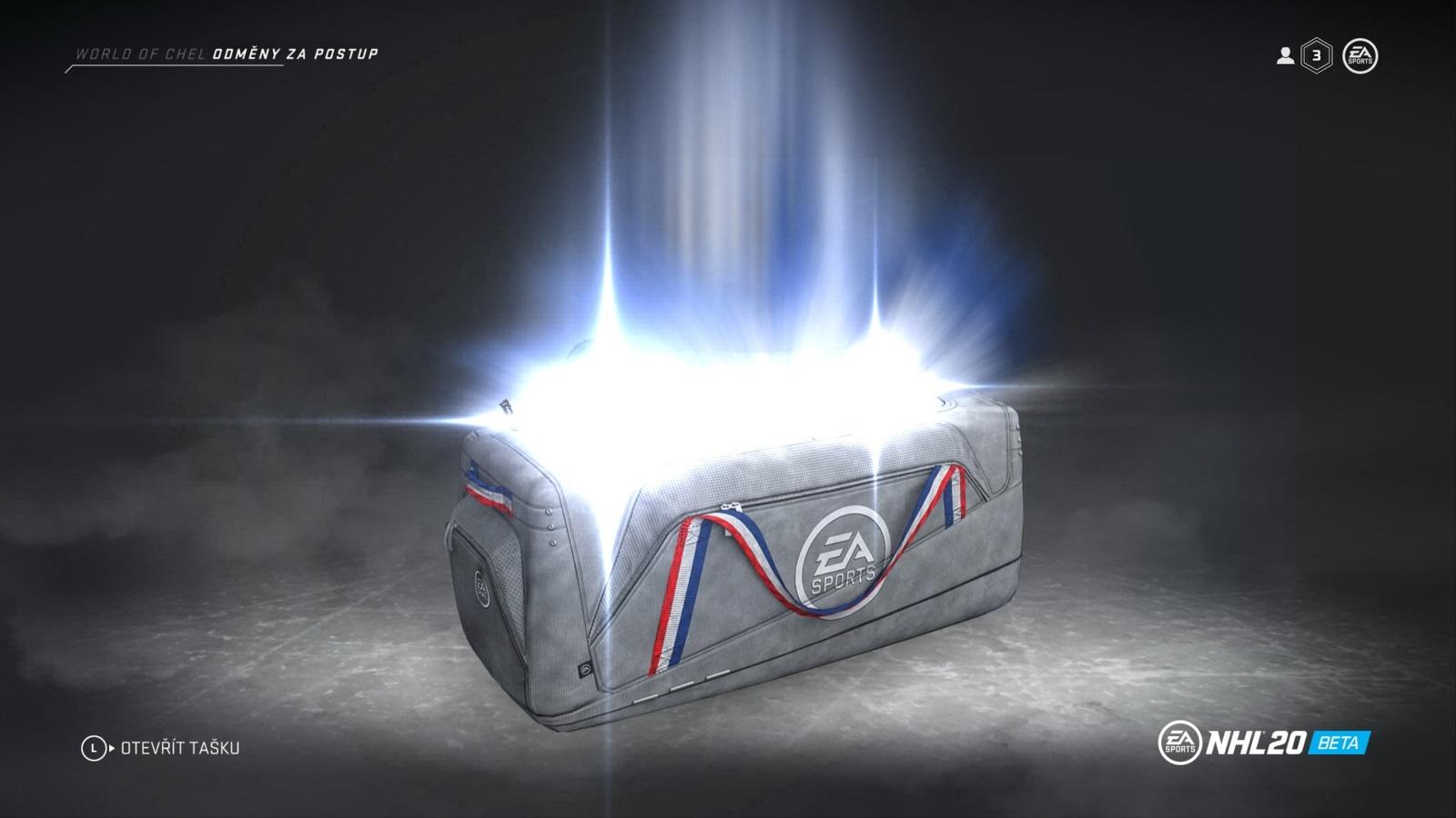 NHL 20; gameplay: taška